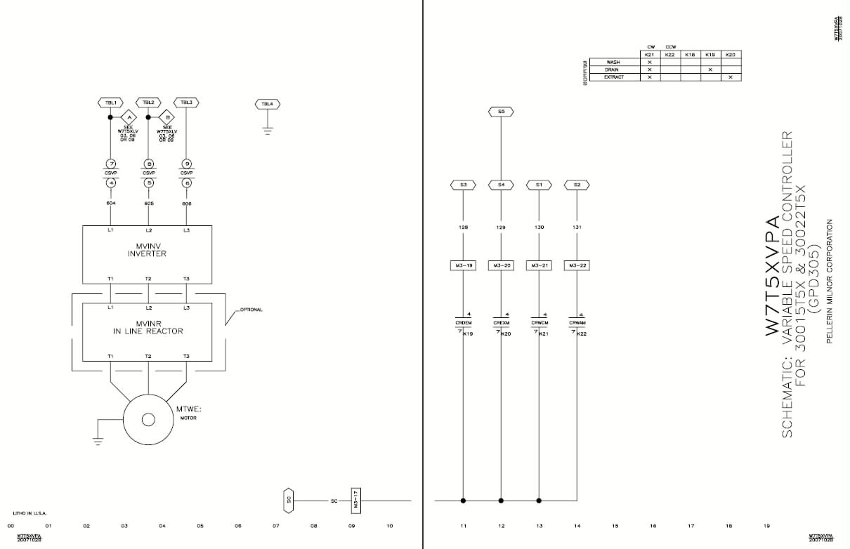 Milnor Wiring Diagrams Schematics Kicker Pt250 Diagram Changes Pellerin Corporation Rh Com Automotive Basic Electrical